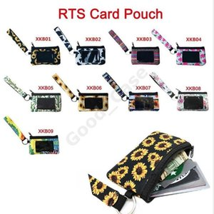 Neoprene Wristlet Passport Card Holder Coin Purse MultiFunction F102202 Wallets Leopard Sunflower Printed Wallet Coin Bag ID Fashion Cl Iiet