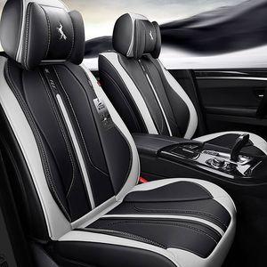 Coperchi sedili auto durevoli Pelle universale Cinque sedili Set Stuoie per cuscino per 5 posti Seater Car Fashion 017
