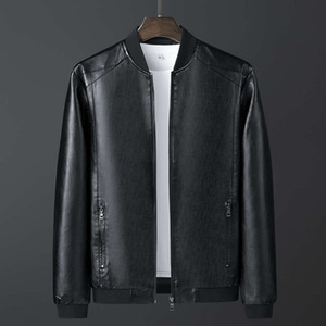 clothes slim casual autumn Men's leather jacket men's-