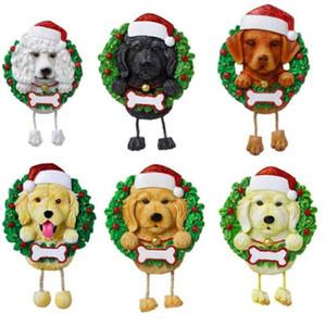 Прекрасные собаки DIY Название Сообщение Подвеска Рождественские Украшения ПВХ ПЭТ-Собака Подвеска Новая Рождественская елка Кулон Орнамент WY1140