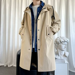 2021 New Winter Plus Cotton Thick Men's Warm Fashion Casual Long Coat Men Overcoat Wild Loose Oversize Trench Jacket Mens S-3xl Msk7