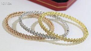 316L titanium CLASH DE bangle Bracelet lover Fashion Wedding rose gold Thanksgiving box 66