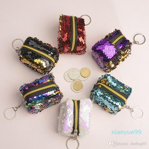 Pink coin purse wallet sequined mini purse for women and children girl small purse wallet 2020 new style cute handbags whoelsale