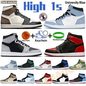 chaussures de basket-ball Hommes 1 haut OG Scott Noir Bout Pas Pour Revente concepteur Baskets Hommes Noir Jaune Baskets Multicolores Ombre