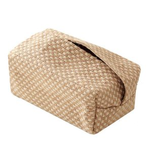Toilet Paper Holders Large Fabric Tissue Box Simple Pumping Napkin Covers Japanese Style Rectangle