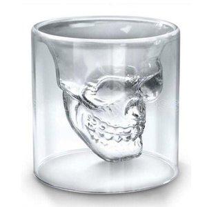 25 ml 70 ml 150 ml 250 ml Cráneo de vino Cráneo Cerveza Cerveza Whisky Decoración de Halloween Partido creativo Transparente Transparente Embalos Bebidas FY45