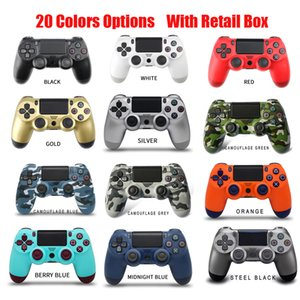 20 Colors Wireless Bluetooth Gamepad Joystick Controller Game Console Accessory USB Handle NO Logo For PS4 PC Controller With Retail Box