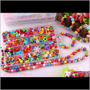 Girls Variety Acrylic Beads For Children Kids Bracelets Necklace Diy Beaded Jewelry Making Colorful Beads For Sale Box 0F3Bs Ten6V