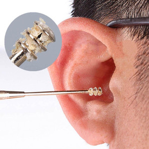 1PC Double-ended Stainless Steel Spiral Ear Pick Spoon Ear Wax Removal Cleaner Ear Tool Multi-function Portable