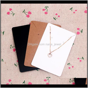 6*9Cm 100Pcs Lot Jewelry Display Card Price Tag Kraft Paper Earring Holder Necklace Cards Can Custom Logo 5Hzvf Irfyb