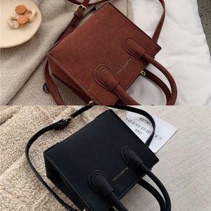 New Scrub Leather Mini Crossbody Bags For Women 2020 Simple Style Shoulder Messenger Bag Lady Travel Handbags Mini Totes C0225