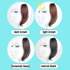 Brasiliano a lungo clip in anteriore clip di capelli nella parte laterali botti remy capelli naturali bangs boli clip con estensioni umane donne