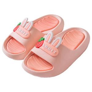PINK New children's slippers beach summer girl cartoon cute cute indoor princess bath outside small baby sandal slippers