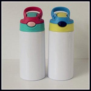 DIY التسامي 12oz watter زجاجة مستقيم بهلوان الفولاذ المقاوم للصدأ سيبي كوب 350 ملليلتر القش أكواب نوعية جيدة للأطفال 80 S2