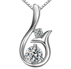 2020Fahmi Top Grad Diamant Anhänger Halskette Zirkon 925 Sterling Silber Little Mermaid Ecklacefor Hochzeit Frauen Schmuck