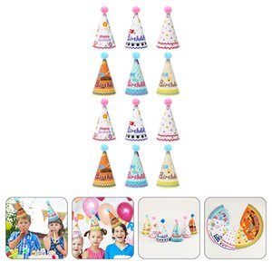 Party Hats 12pcs Decorative Birthday Paper For Children Kids Pograph Props