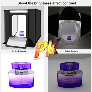 Puluz 40 * 40см 16 дюймов Светоблоковая коробка Mini Studio Softbox 30Wight Photo Lighting Studio Съемка палатки набор