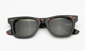 CLINDINE Winkelrahmen 50mm Herren Frauen Sonnenbrille Square Acetatrahmen echte UV400 Glaslinsen Frauen Männer Sonnenbrille mit Zubehör Box