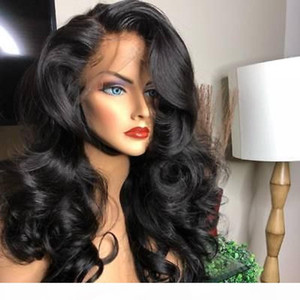 2020 HD Transparent Lace Front Human Hair Wigs Full Lace Wig Pre Plucked Brazilian Body Wave 360 Lace Frontal Wig With Baby Hair Remy