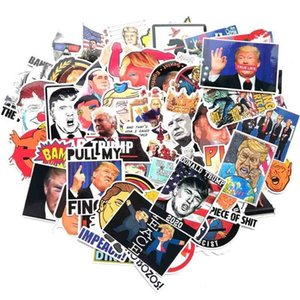 55PCS PACK Donald trump 2024 funny graffiti stickers cartoon trump decals paster US President refrigerator trolley Toy Guitar waterproof sticker decors G86VXMP