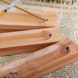 Incense Sticks Holder Bamboo Natural Plain Wood Incense Stick Ash Catcher Burner Holder Wooden Incense Sticks Holder Home Decoration HWF5058