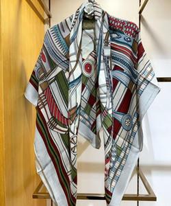 Moda nova girar arte imprimir senhora de alta qualidade seda cashmere elegante lenço design de moda headband quadrado quente xale sr5