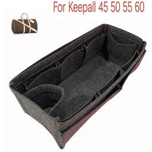 For Keepall 45 50 55 60Bag Insert Organizer,Purse Insert Organizer, Bag Shaper,Bag Liner- Premium Felt (Handmade 20 colors) 210315