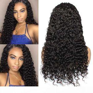 Peluca de onda de agua Pelucas de base de seda 13x4 Frente de encaje Peluca de cabello humano Peluca Preparada Top Brasileño Remy en stock Full End Natural