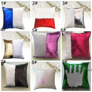 40*40 cm Sequin PillowCovers Bedroom Sofa Cushion Throw Pillow case Office Chair Pillowcover Home Decoration Supplies GWF11050