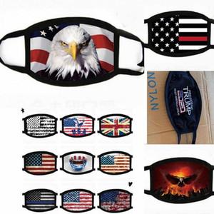 Mode Masque États-Unis Amérique Drapeau d'Eagle Trump Imprimer Masques coton Lavable visage anti-poussière Masque Masques unisexe respirant resuable de protection