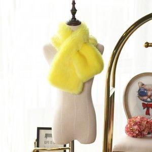CJ New Haining Rabbit Fox Immitation Pele Cross Cruz Colar Collar Multicolor