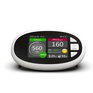 스마트 홈 컨트롤 DM125 CO2 미터 탐지기 PM2.5 PM1.0 PM10 PM10 HCHO TOVC 공기 품질 인덱스 AQI 온도 습도 모니터 분석기