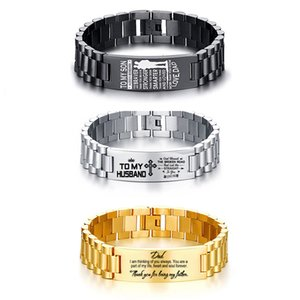 CUSTOMIZED MEN'S CHAIN LINK ID BRACELET BANGLE TRENDING 15.5MM STAINLESS STEEL PERSONALIZED TAG NAME PULSERAS DROPSHIP