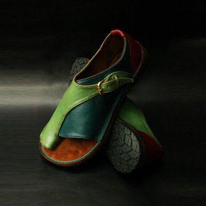 2021 Wigqcy mujeres cómodas zapatos lisos planos plana damas casuales de punta grande de punta de pie de punta sandalias ortopédico japón corrector flip flop