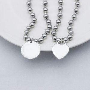 logo роскошные браслеты пряди нержавеющая сталь круглая сердца бисером цепи браслет на руку пару мода ювелирные изделия оптом подарки для подруги аксессуары