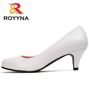 ROYYNA Spring Autumn Styles Pumps Women Big Size Fashion Sexy Round Toe Sweet Colorful Soft Shoes 210610 RGDE7L2A
