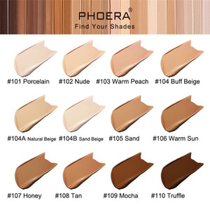 Original PHOERA 12 colors 30ml Full Coverage Foundation Makeup Skin-Friendly Base Maquiagem Oil Control Long Lasting for 24 Hours