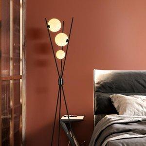 أزياء نمط الشمال الطابق ضوء الفاخرة الحد الأدنى الحديثة تصميم الطابق مصباح غرفة نوم السرير الجدول مصباح غرفة المعيشة يقف