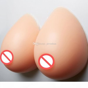 High Simulation Silicone Adhesive Breast Form Bust Pads Fake Breast Form Crossdress Artificial Breast 1 Pair 2000g