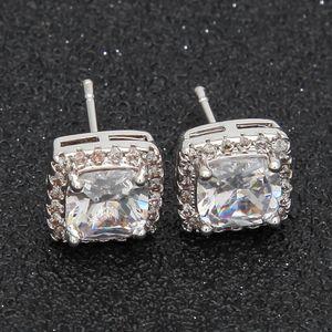Luxury Designer Earrings Hip Hop Jewelry Mens Iced Out Earings Bling Diamond Stud Earring Rapper Hiphop Men Charms Fashion Statement Women