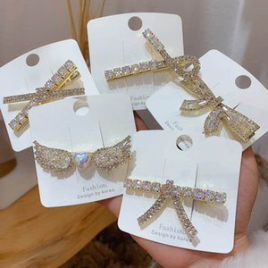 Rhinestone Girls Hair Clips Princess Kids Barrettes Crystal Bowknot BB Clip Fashion Hair Accessories B3969