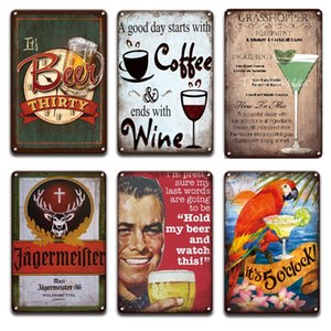 2021 Jagermeister Beer Metal Sign Retro Poster Bar Beer Tin Signs Vintage Plaques tiki Bar Shop Cafe Club Sweet Home Wall Decor Plate