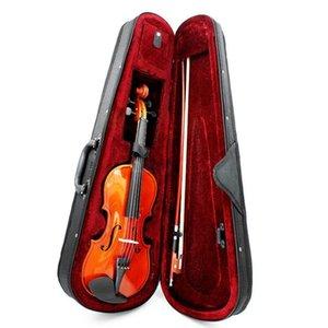Größe 3/4 Natürliche Violine BASSWOCHE STAHL SACHE BRITEN BOW FÜR ANFERKERN GIOLINE Handmade Violine Solid Basswood beim Griffbrett