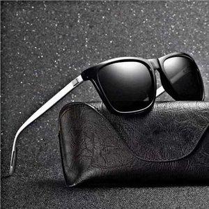 2021 Polarizado UV400 Gafas de sol Hombres Color Color Color Clásico Retro Diseñador de marca Luz Flexible Zona Vidrio Oculos de Sol