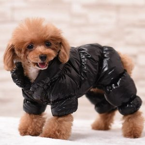 Jacket Pet Dog The Thicken Shiny Dog Windbreak Face Fashion Hip-hop Coat Autumn Winter Sup North Apparel Fashion Brand SXFIQ