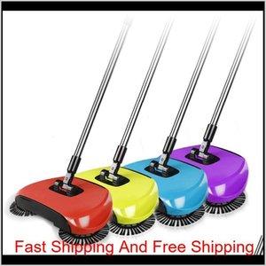 Hand Push Sweeping Machine Magic Broom Dustpan Handle Household Cleaning Package Hand-propelled Sweeper Vac qylvGA petsyard