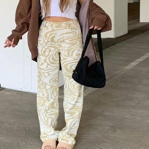 Women's Pants & Capris Fashion Harajuku Y2K Zebra Print Straight Women Aesthetic Baggy High Waist Casual Vintage Streetwear Female 2021 Iamt