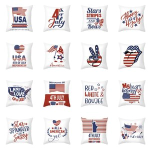 USA Independence Day Pillow Case 4th of July 18 Inch Throw Pillow Cover for Couch Sofa Patriotic Home Decor Pillow Case