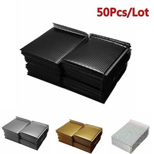 50pcs / lot 골드 버블 봉투 가방 저장 가방 Shockproof 방수 메일러 패딩 배송 봉투 버블 우편물