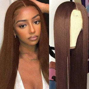 13x6 Lace Front Human Hair Wigs Brazilian Wigss 180% Straight Brown Color 360Lace Frontal Wig For Women PrePlucked HumanHair 5x5 closure full lacewig hairline